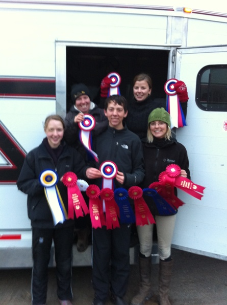 Donogue Farm Eventing Team with Ribbons